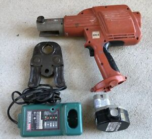 Ridgid Propress Crimper Model 320 e With 1 1 4 Copper Jaw Battery Charger