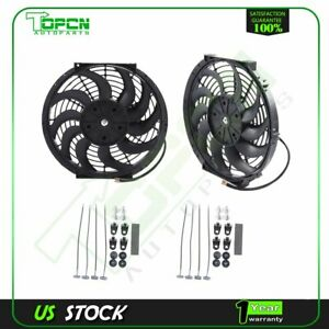 12v Mount Kit 12 Inch Electric Radiator Cooling Fan Fits 80 14 Honda Accord