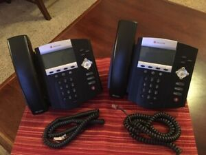 Polycom Voip 3 line Business Desktop Phone soundpoint 450 lot Of 2 used