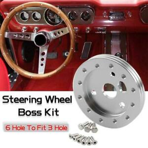 0 5 Steering Wheel Hub Adapter Conversion Spacer 6 Hole To Fit Grant Apc Silver