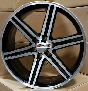 24 Iroc Rims Black Machined Wheels Tires Fits 6lugs Tahoe Silverado Gmc Sierra