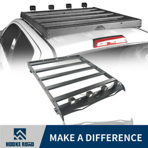 Hooke Road Roof Rack Carrier W 4x Led Spotlights For Toyota Tundra 2014 2020 4dr