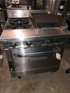 Southbend P32a xc Heavy Duty Gas Range 2 Burners Charbroiler Convection Oven