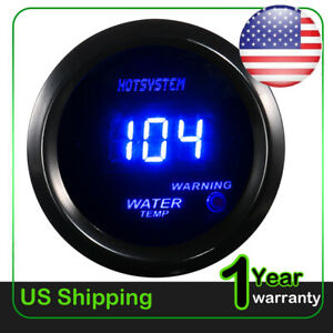 2 52mm Water Temp Gauge Blue Digital Led Temperature Car Universal Meter 2020