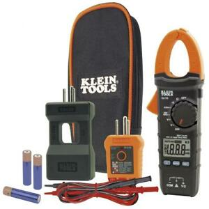 Klein Tools Cl110kit Electrical Multimeter Outlet And Clamp Meter Digital Tester