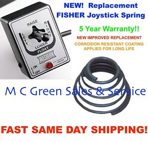 New Fisher Joystick Controller Replacement Repair Coated Spring Snow Plow