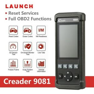 Launch Creader Cr9081 Obd2 Can Car Diagnostic Scanner Oil Reset Injector Coding