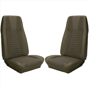 1971 1973 Mustang Mach I Front Seat Cover Set Medium Green Tmi Interiors