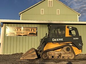 2010 John Deere 323d Compact Track Skid Steer Loader Enclosed 1699 Hours Nice