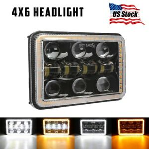 210w 5x7 7x6 Led Headlight Hi lo Beam Drl For Jeep Cherokee Xj Wrangler Yj
