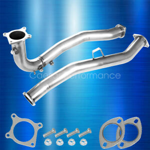 For 2015 2016 2017 2018 2019 Wrx Downpipe Catless 3x O2 Bung Manual Down J Pipe Fits Subaru