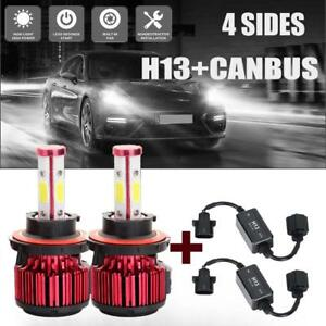 4 side H13 9008 High Low Dual Beam Led Headlight Bulbs error Free Canbus Decoder