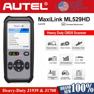 Autel Heavy Duty Diesel Truck Diagnostic Scanner Obd2 Emission Test Reset Tool