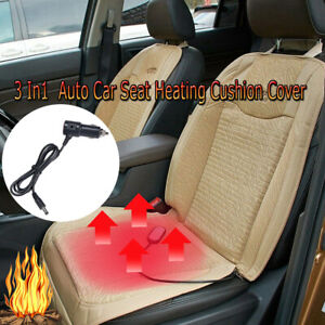 1pc3 In1 Auto Car Seat Heating Cushion Cover Cooling Massage Fit Office Chair