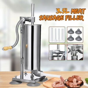 3 5l Manual Sausage Stuffer Filler Meat Making Machine Stainless Steel Food Make