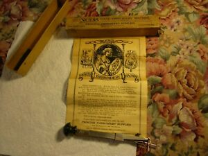 Vintage Antique 1915 Princess Embroidery Machine Sewing Needle Box Instructions