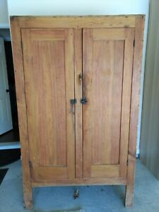 Antique 1890 S Farmhouse Country Cabinet Pantry Closet Storage Barn Cupboard