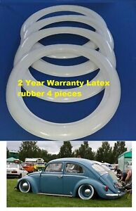 15 Tire White Walls Tire Insert Trim Latex Material Each Set 4 Pieces Hot Rod