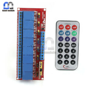 8 Channel Infrared Switch Relay With Remote Control Multi function 12v Led