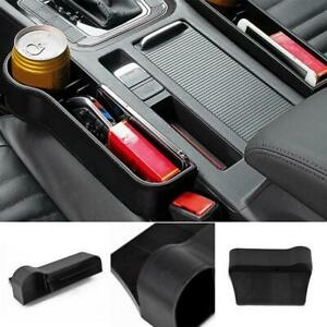 1 Car Seat Gap Catcher Filler Storage Coin Box Pocket Organizer Holder Suv New