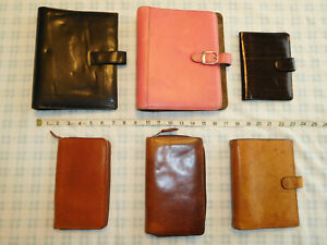 Lot Of 4 2 Day Timer Planner Leather Binder Notebook Organizer Zip Wallet