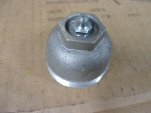 Tractor Trailer Threaded Front Hub Grease Cap Greasable Cast Aluminum Wheel Seal