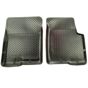 Husky Liners Front Row Classic Black Floor Mats For 2001 2004 Toyota Tacoma Dbl
