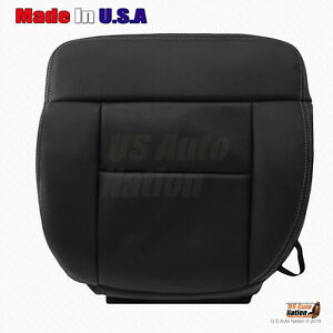 2004 2008 Ford F150 Fx2 Fx4 Driver Bottom Replacement Leather Seat Cover Black