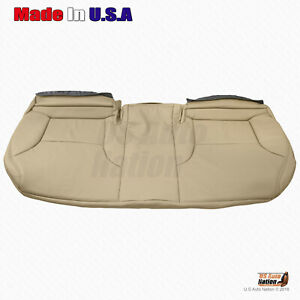 Rear Bench Bottom Tan Perforated Leather Cover For 2002 2006 Lexus Es300 Es330