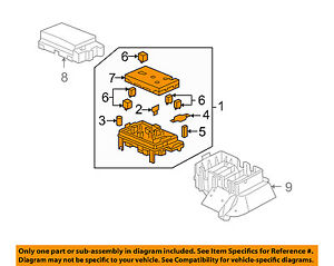 Buick Gm Oem 2007 Rainier electrical Fuse Relay Box 25790682