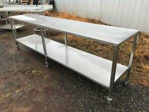 117 Heavy Duty Stainless Steel Table On Casters