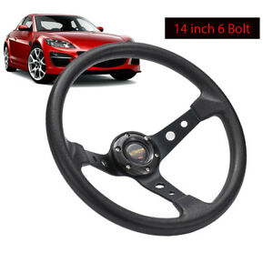 14 6 Bolt Aluminum Car Racing Car Steering Wheel Sport Drifting W Horn Button