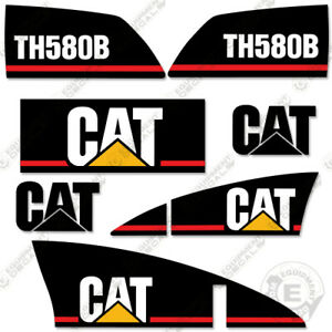 Caterpillar Th580b Telescopic Forklift Decal Kit older Style Th 580 B