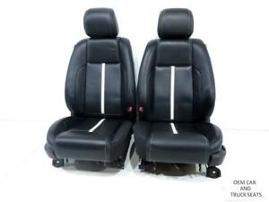 Ford Mustang Coupe Oem Black Leather White Stripe Seats 2010 2011 2012 2013 2014