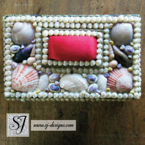 1860s Victorian Era Sailor S Valentine Shell Encrusted Sewing Box Orig Contents