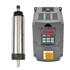 1 5kw Er16 80mm Air cooled Spindle Motor And Matching 1 5kw Inverter Vfd For Cnc