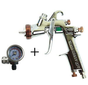 Anest Iwata W 400 134g 1 3mm Bellaria Spray Gun With Air Gauge No Cup W400 134g