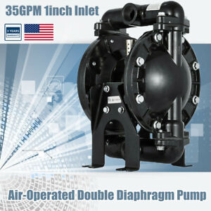 Air operated Double Diaphragm Pump 1 Inlet Outlet Petroleum Fluids 35gpm 120psi