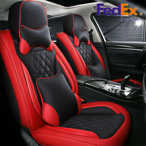 5d Luxury Pu Leather Car Seat Covers Full Set For Mercedes Benz W203 W210 W211