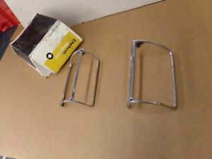 Nos Pontiac 1969 1970 1971 1972 Grand Prix Chrome Parking Lamp Bezels Pair 3