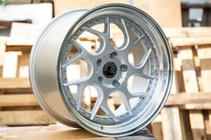 Aodhan Ds01 18x9 5 15 5x114 3 Silver Rims Fits S2000 Crz 5x4 5 Civic Si