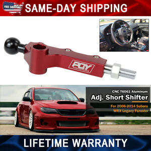 Double Adjustable Short Throw Shifter For 08 Subaru Wrx Legacy Outback Forester