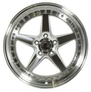18x9 5 Aodhan Ds05 5x114 3 22 Silver Rims Aggressive Fits Tc Rx8 Speed 3