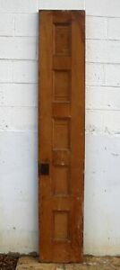 16 X88 Antique Vintage Solid Wood Wooden Interior Door Horizontal Stacked Panel