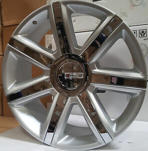 26 Cadillac Escalade Platinum New Style Rims Wheels Silver Chrome Ext Esv