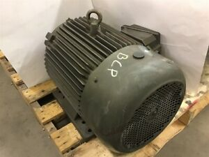 Industrial Electric Wwe20 36 256t Ac Motor 20 Hp 3550 Rpm 2 P 230 460 V 256t