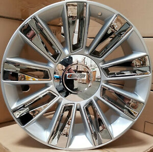 26 Rims New Platinum Silver Chrome Wheels Tires Fit Cadillac Escalade Tahoe