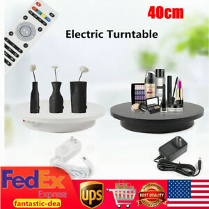 40cm Round Electric Motorized 360 Rotating Display Stand Turntable W remote Us