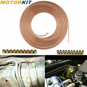 Brake Line Tubing Pipe 25ft Roll 3 16 Copper Steel Nickel Metric 20pcs Fittings