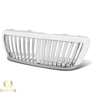 Chrome Vertical Bar Style Grill Grille Assembly For 04 05 06 07 Ranger Truck